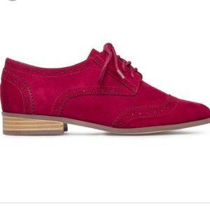 Shoedazzle Dalaney Bordeaux Wine Oxford Shoes